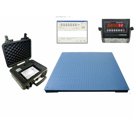 OPTIMA OP-916 Industrial NTEP 2' x 2' & 4' x 4' Floor scale for Warehouse pallet weighing