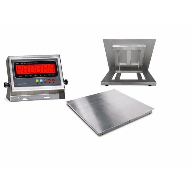 "OPTIMA 5'x5' (60""x60"") Stainless Steel Floor Scale & Indicator 