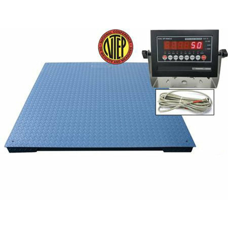 "OPTIMA OP-916-7x7-20 NTEP 7' x 7' / 84"" x 84"" Industrial Floor scale with 20,000 lbs x 5 lb"