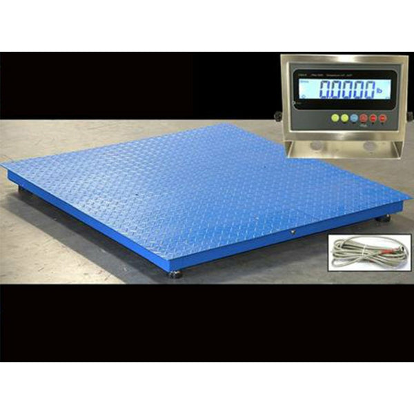 "OPTIMA Industrial 40"" x 40"" Floor scale / Pallet size / SS indicator 5,000 x 1 lb"
