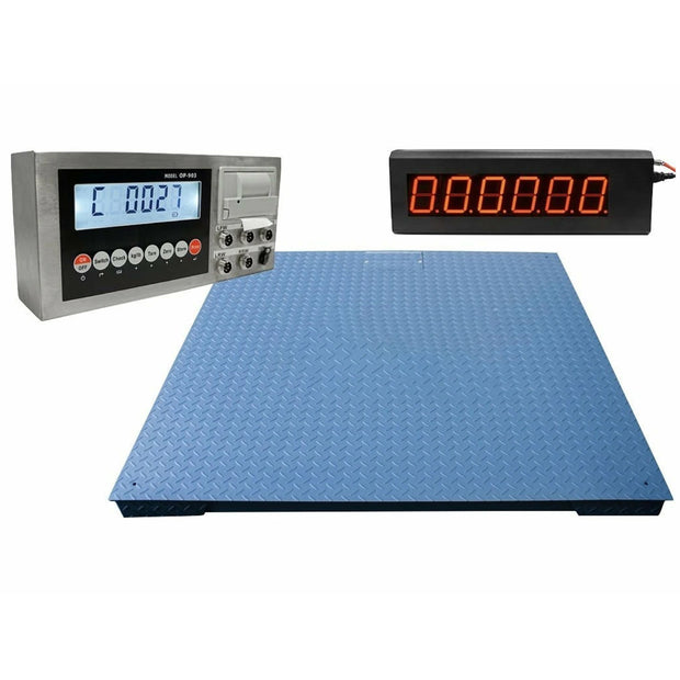 "OPTIMA Heavy Duty Industrial Floor scale 6' x 6' / 72"" 20,000 lbs x 5 lb"