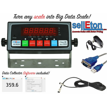PS-IN202 Big Data Scale Indicator/ Data Collecting Capability with 4+4 Cable/ LED Display