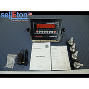 Op-916-3x3-2.5  36″ x 36″ (3' x3') NTEP  Legal For Trade Floor Scale + indicator 2500 lbs x .5lb
