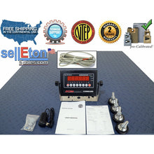 "Load image into Gallery viewer, NTEP 5 x 5 / 60"" x 60"" Industrial warehouse Floor scale with 10,000 lbs x 2 lb - SellEton Scales"