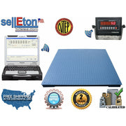 "NEW Floor Scale 48""X48"" (4'x4') NTEP Legal for trade 1000 X .2 lb / Indicator - SellEton Scales"
