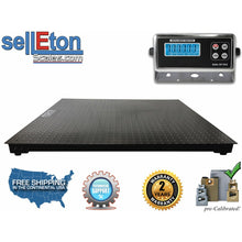 "Load image into Gallery viewer, 60"" x 60"" (5' x 5') Floor Scale / Pallet Size with RS-232 port 2500 x  .5 lb - SellEton Scales"