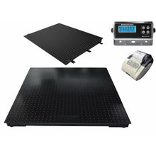 "Load image into Gallery viewer, OPTIMA 48"" x 72"" (4' x 6') Floor Scale with Ramp & Printer l  10,000 lbs x 1 lb"