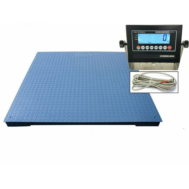 "OPTIMA Op-916-7x7 Heavy Duty Industrial Floor scale 7' x 7' / 84"" 10,000 lbs x 1 lb & LCD display"