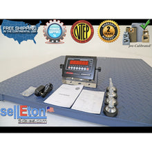"Load image into Gallery viewer, NEW NTEP (Legal) Industrial warehouse 48"" x 48"" 4' x 4' Floor scale 5000 x 1 lb - SellEton Scales"