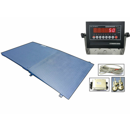 OPTIMA OP-916 NTEP 4' x 4' Floor scale 10,000 lbs x 2 lb with Ramp
