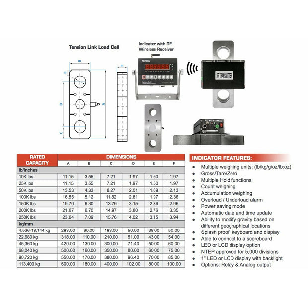 e910b5ff0d03 Wireless OP-927W Tension Scale With LED / LCD | 25000 - 250000 LB ...