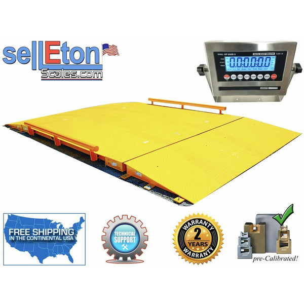 OP-934-20  10' x 20' NTEP Legal for trade Axle Truck cargo Scale with 100,000 lbs Capacity