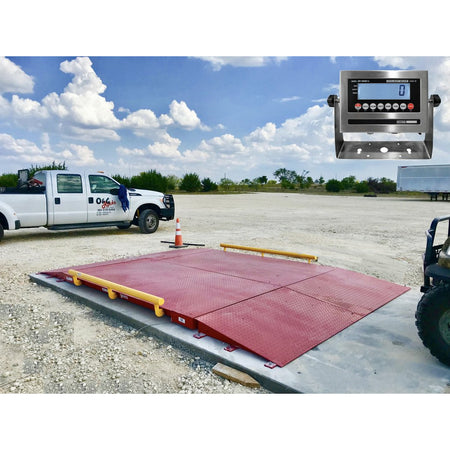 OP-934  10' x 10' NTEP Legal for trade Axle Truck cargo Scale with 60,000 lbs Capacity