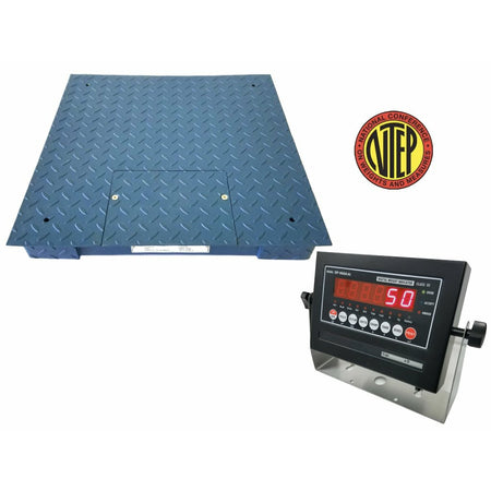 OPTIMA op-916-2x2-1 NTEP Heavy Duty Floor Scale with 1000 lb x 0.2 lb / Industrial / Recycler