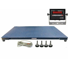 "Load image into Gallery viewer, OPTIMA Op-916-7x7 Heavy Duty Industrial Floor scale 7' x 7' / 84"" 10,000 lbs x 1 lb & LED display"