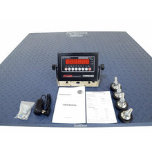 "Load image into Gallery viewer, OPTIMA Op-916-7x7 Heavy Duty Industrial Floor scale 7' x 7' / 84"" 20,000 lbs x 5 lb  LCD display"
