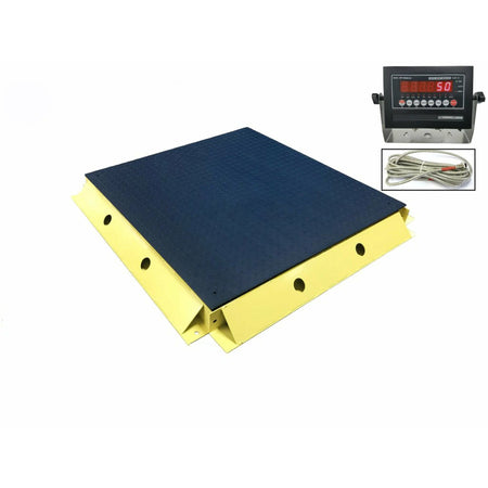 "OPTIMA OP-916-3x3-5K NTEP Floor Scale 36"" x 36"" / 5000 lbs x 1 lb with 2 Protection Bumper Guards"