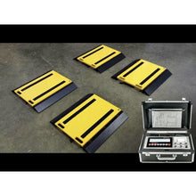 "Load image into Gallery viewer, SellEton SL-928-1624-2  16"" x 24"" x 2"" Four Portable Weigh Pads/ Indicator & Printer/ 100,000 lb x 20 lb"