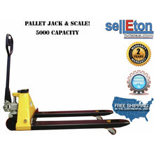 Load image into Gallery viewer, OPTIMA STG-PJ Pallet Jack Scale with Capacity of 5,000 lbs / Warehouse/ Industrial Handling