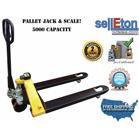 OPTIMA STG-PJ Pallet Jack Scale with Capacity of 5,000 lbs / Warehouse/ Industrial Handling