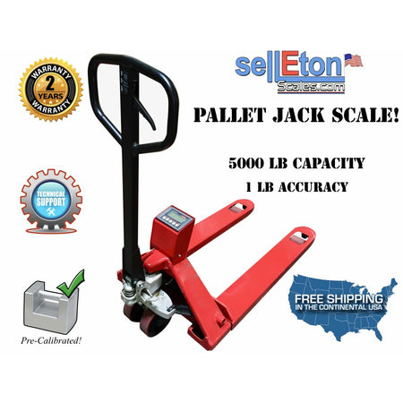 OP-918 Industrial warehouse Pallet Jack scale 5000 lbs x 1 lb