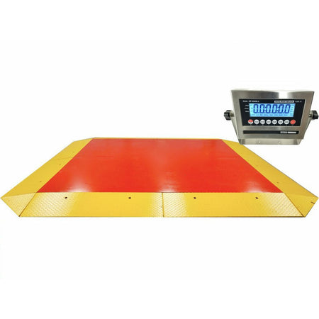 OPTIMA OP-960 Heavy Duty Ultra low Cargo Pancake Scale with Capacity of 20,000 lbs x 10 lb