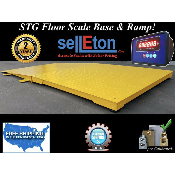 "STG Industrial 48"" x 48"" floor scale with ramp 2000 lbs x .5 lb digital pallet"