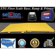 "STG Industrial 48"" x 48"" floor scale with ramp 5000 lbs x 1 lb digital pallet"