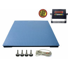 "Load image into Gallery viewer, SellEton SL-916-5x5-20 NTEP 5 x 5 / 60"" x 60"" Industrial Floor scale with 20,000 lbs x 5 lb"