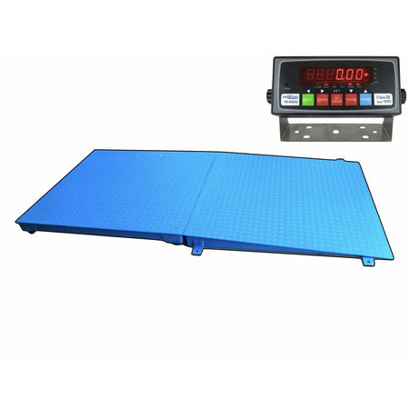 "SellEton 48"" x 48"" Pallet Size Floor Scale with a Ramp l 5000 lbs x 1 lb"