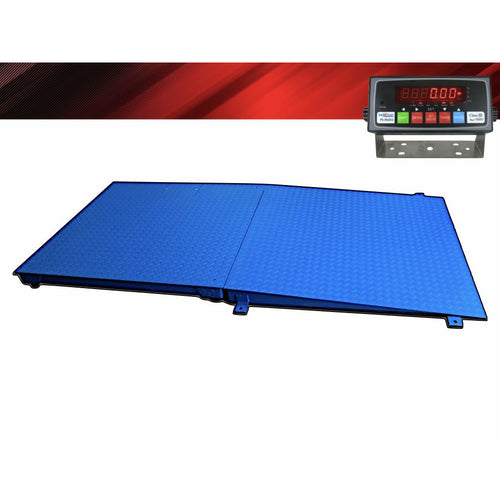 NTEP 4' x 4' (48'' x 48'') Floor Scale with Ramp 2,500 lbs x 0.5 lb/ Pallet Size