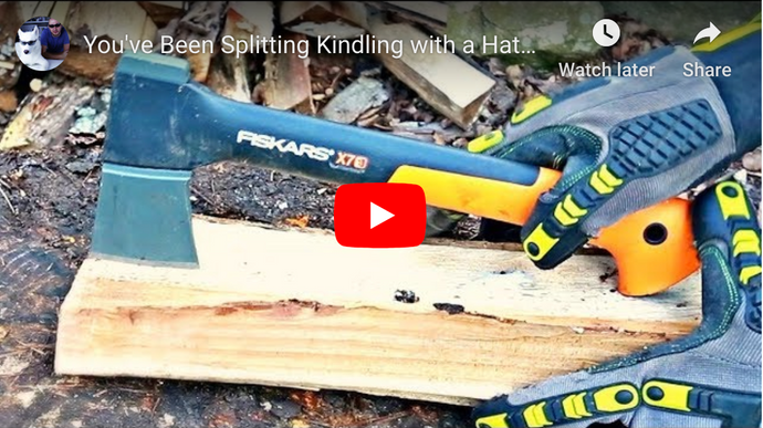 How to Split Wood For Kindling