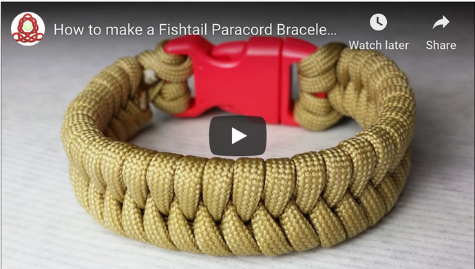 How to make a Fishtail Paracord Bracelet with a buckle