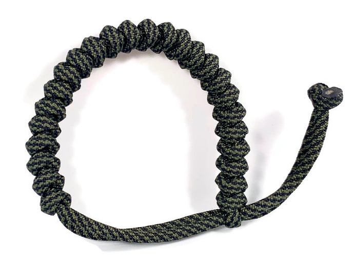 Engineered Olive and Black Rope Bracelet