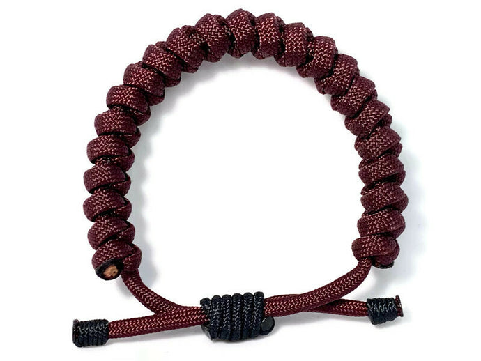 Engineered Maroon Rope Bracelet