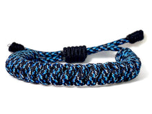 Load image into Gallery viewer, Engineered Blue Galaxy Rope Bracelet