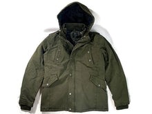 Load image into Gallery viewer, PX Zach Long Cotton Jacket in Army Green