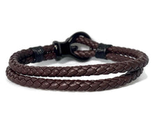 Load image into Gallery viewer, Brown Leather Bracelet