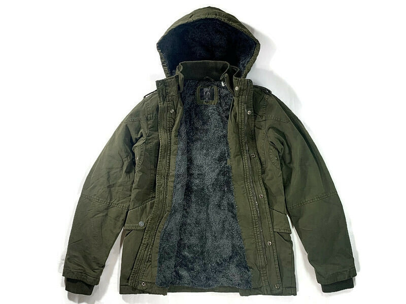 PX Zach Long Cotton Jacket in Army Green