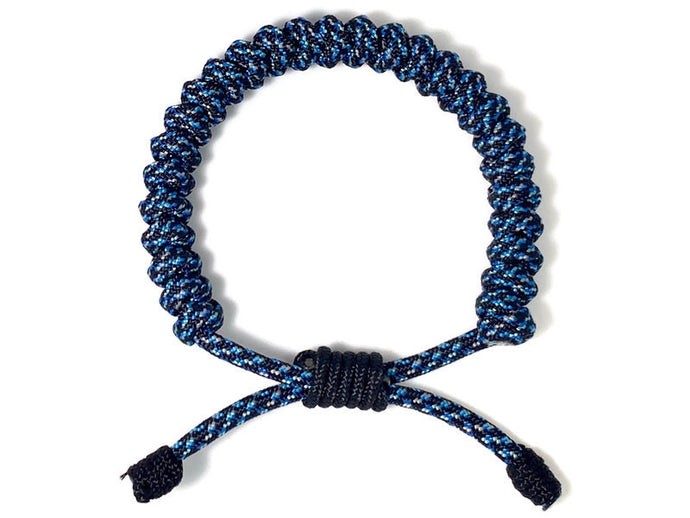 Engineered Blue Galaxy Rope Bracelet