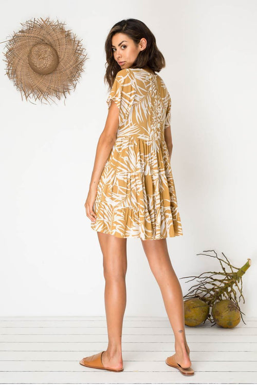 BIRD & KITE - LAYLA DRESS - SHELTERING PALM GOLD