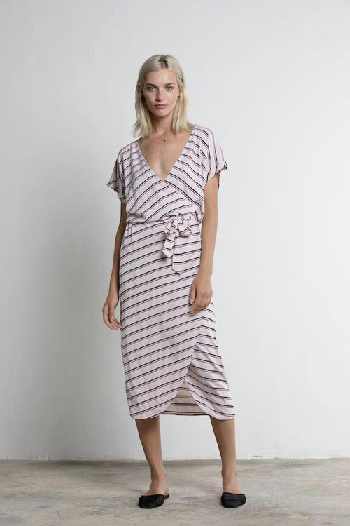 Lilya - Pyramid Dress - Blush Stripe