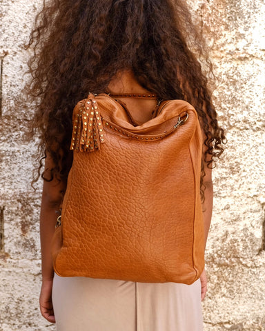 Atlas Backpack in Cognac & Henna - Hamimi Design