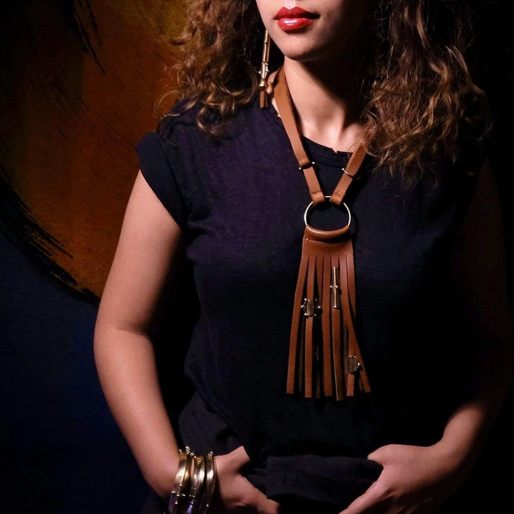 Amazigh Fringe Necklace - Hamimi Design
