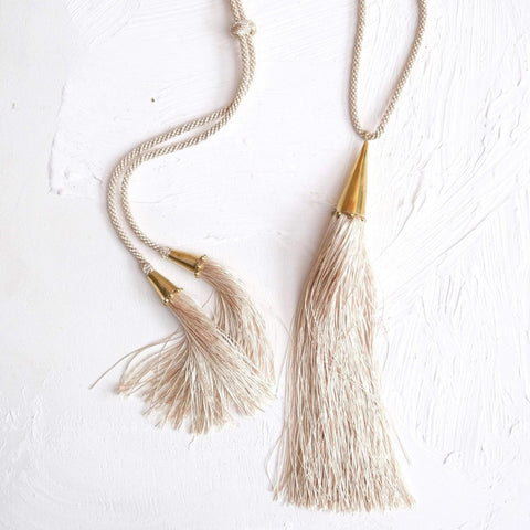 Zabra Tassel Necklace - Hamimi Design