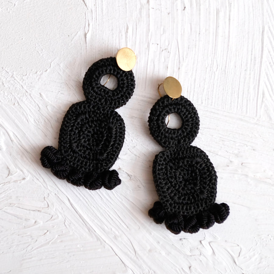 Labyrinth Crochet Earrings - Hamimi Design