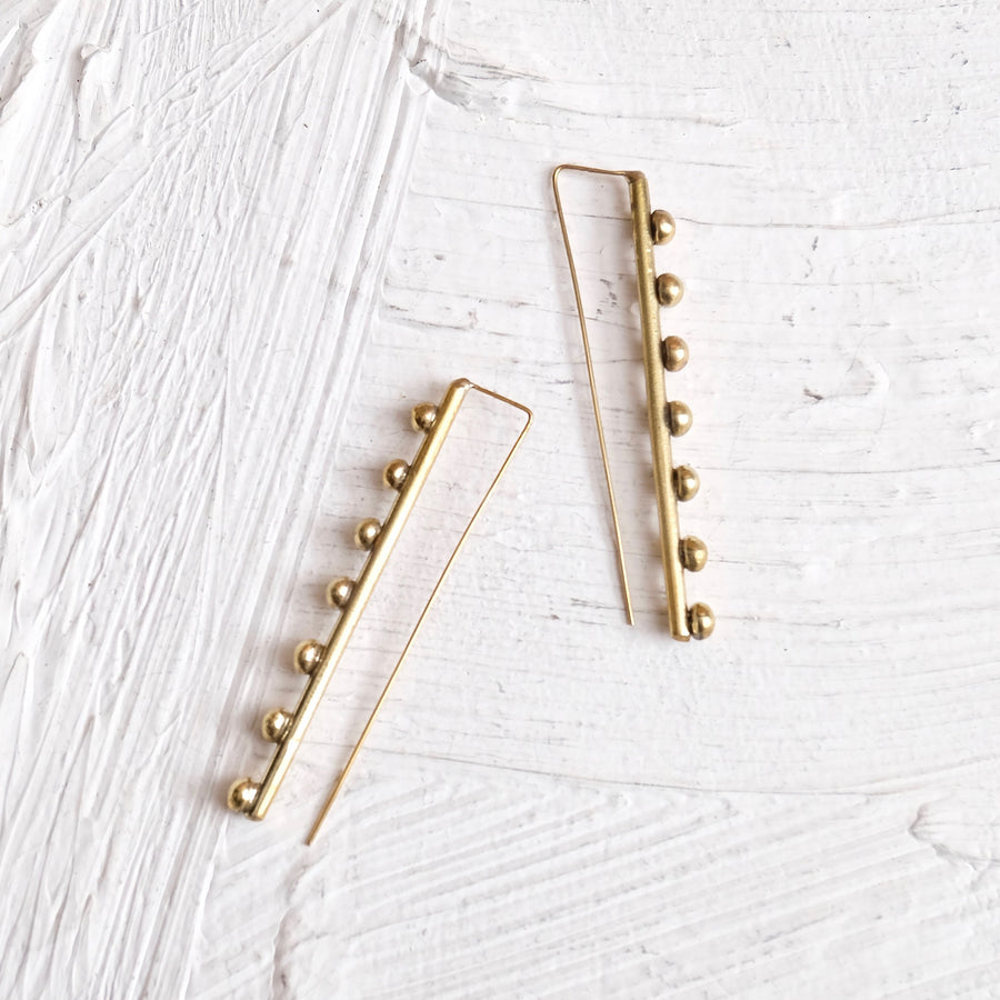 Hebba Line Earrings - Hamimi Design