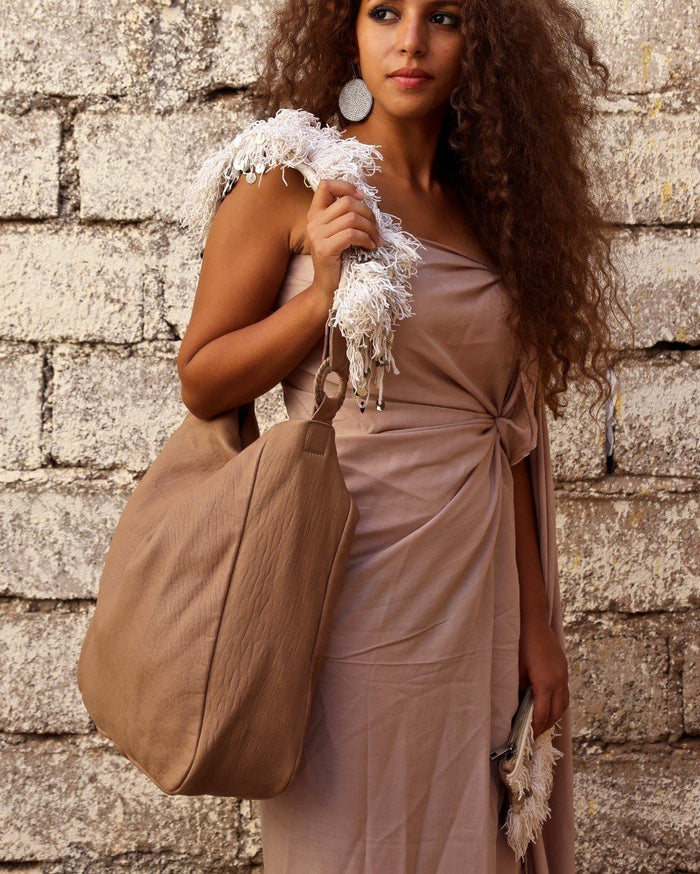 Beni Mellal Leather Shoulder Bag - Hamimi Design