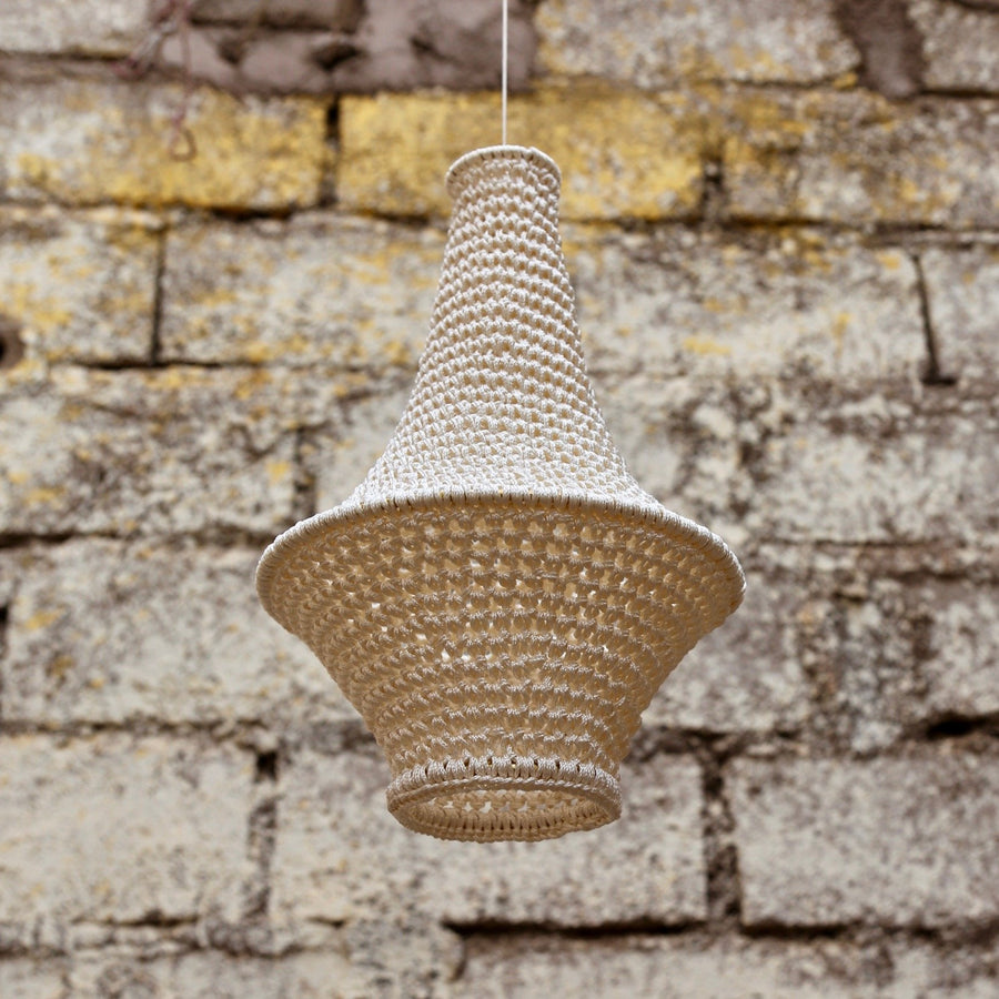 Wahad Crochet Pendant Light - Small - Hamimi Design