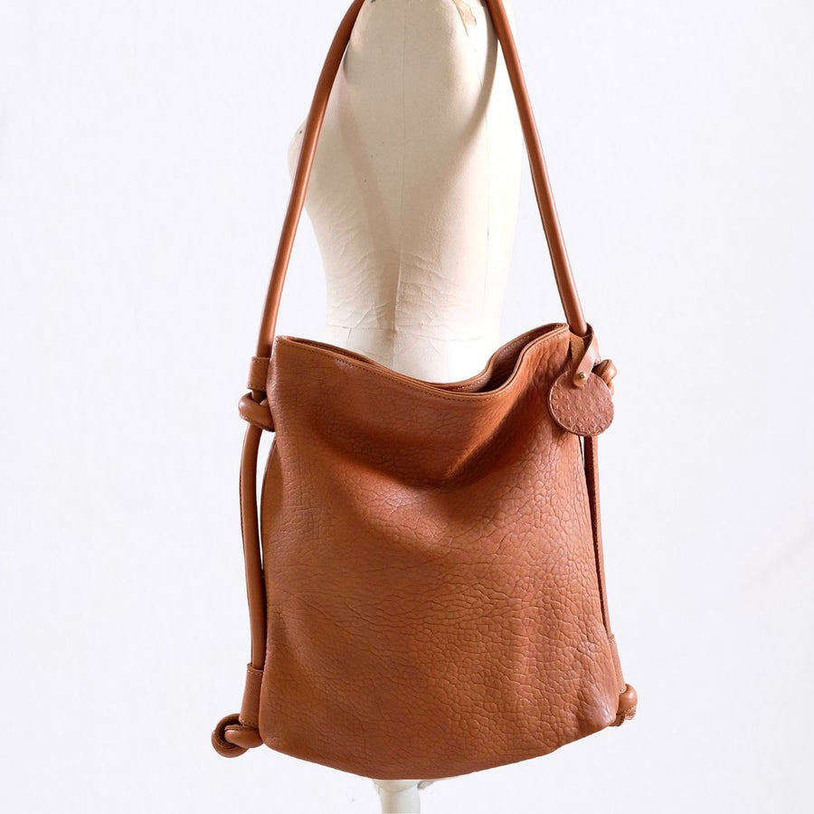 Hayat Backpack / Shoulder Bag - Cognac